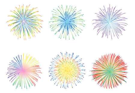 display: Fireworks display illustration