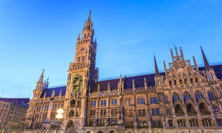 town hall square: Marienplatz town hall square of Munich Germany Stock Photo