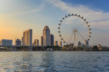 marina bay: Singapore city skyline at Marina Bay