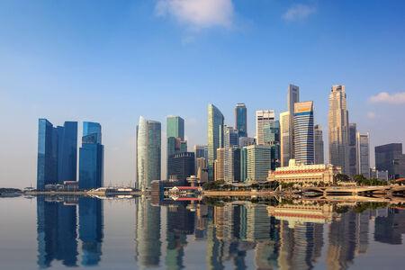 Singapur Skyline der Stadt an der Marina Bay Standard-Bild - 31596427