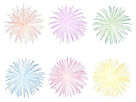 Feuerwerk illustration Standard-Bild - 33039503
