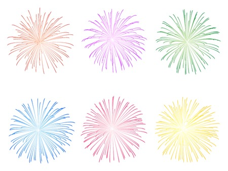 Fireworks display illustration