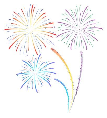 display: Fireworks display illustration