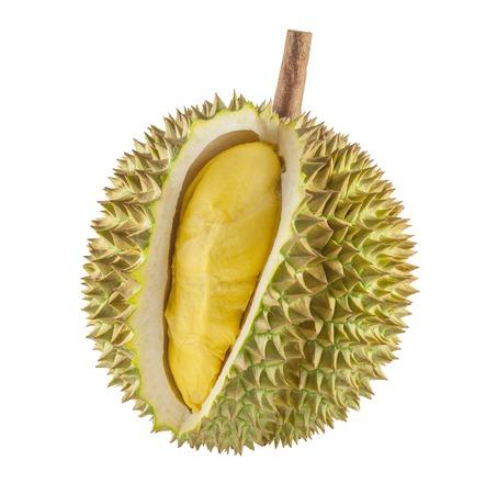 Durian fruit geïsoleerd op een witte achtergrond Stockfoto