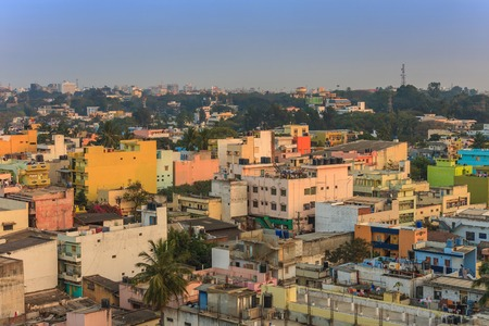 tightly: Bangalore City skyline, India