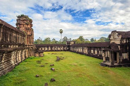 Ancient ruin inside Angkor Wat Temple, Siem Reap, Cambodia