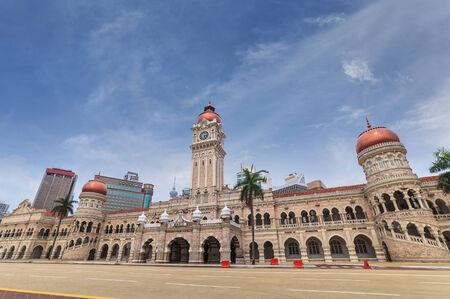 Bangunan Sultan Abdul Samad at Kuala Lumpur, Malaysia Standard-Bild