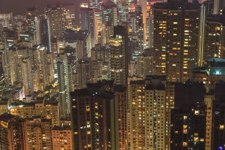 residents: resident building in Hong Kong city