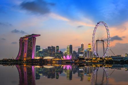 singapore skyline: Singapore city skyline at Marina Bay