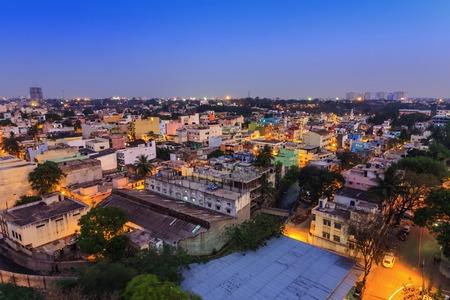 Horizonte de la ciudad de Bangalore, India Foto de archivo - 35959632