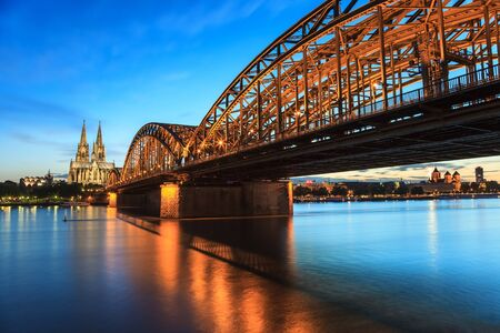 Cologne Cathedral and Hohenzollern Bridge, Cologne, Germany photo