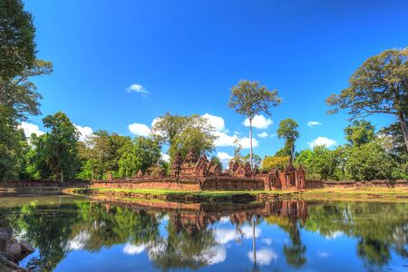 siem reap: Banteay Srei or Lady Temple at Siem Reap Cambodia