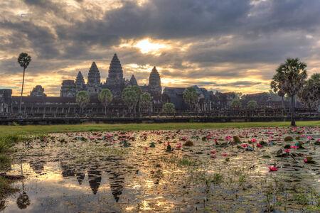 siem reap: Sunrise at Angkor Wat Temple, Siem Reap, Cambodia