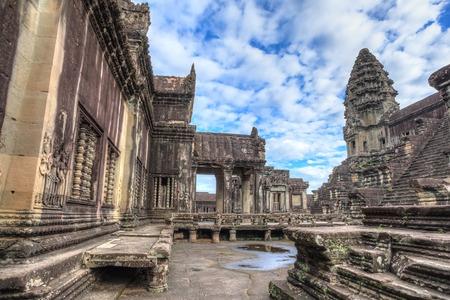 siem reap: Ancient ruin inside Angkor Wat Temple, Siem Reap, Cambodia