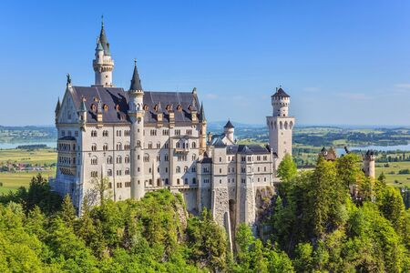 summer morning at Neuschwanstein Castle, Fussen, Bavaria, Germany photo