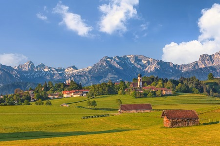 Landscape of Bavarian and Alpine Alps in Germany photo
