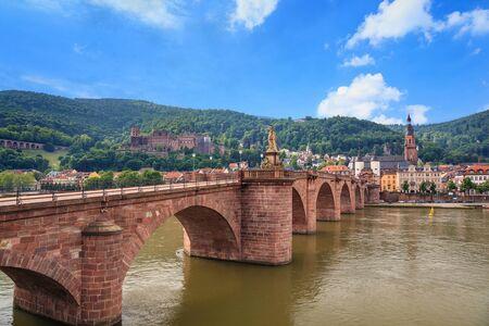 alte: Heidelberg city skyline and Alte bridge, Germany