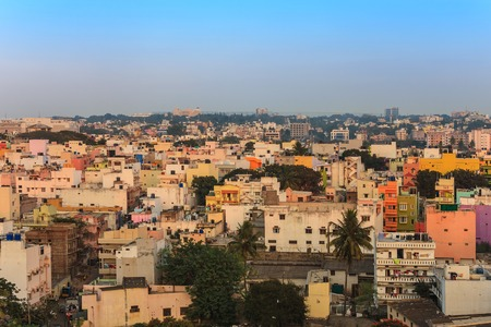 Bangalore City Skyline, Indien Standard-Bild - 39114222