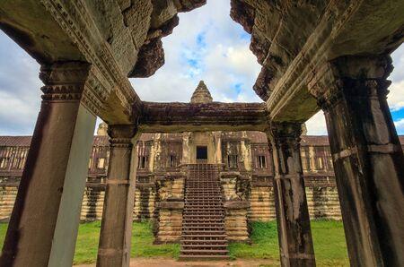 siem reap: inside Angkor Wat Temple, Siem Reap, Cambodia