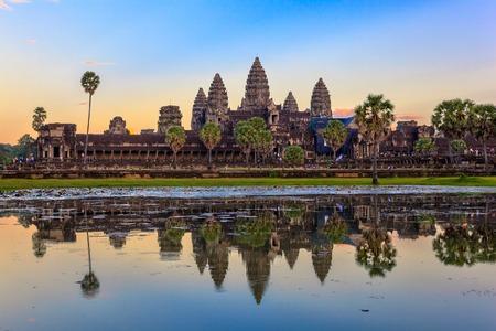 Angkor Wat a Siem Reap in Cambogia Archivio Fotografico