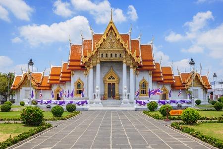 The Marble Temple or Wat Benchamabophit at Bangkok Thailand