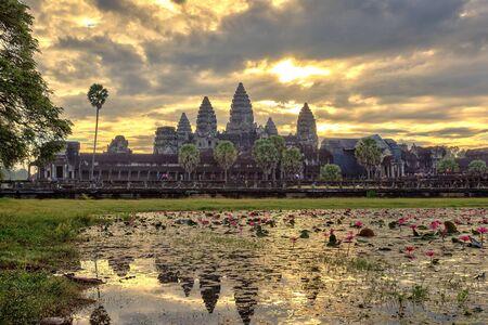 siem: Sunrise at Angkor Wat Temple, Siem Reap, Cambodia