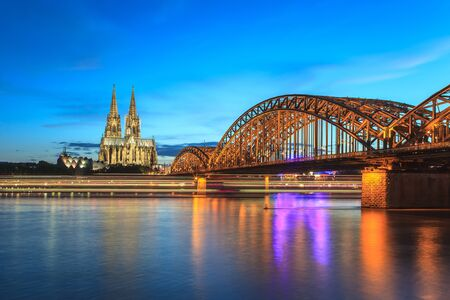 Cologne Cathedral and Hohenzollern Bridge Cologne Germany photo