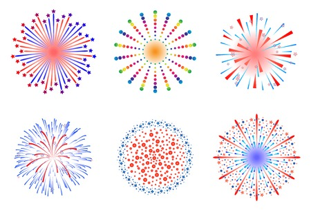 Feuerwerk Vektor-Illustration Standard-Bild - 40816343