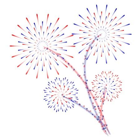 Fireworks vector illustration Ilustração