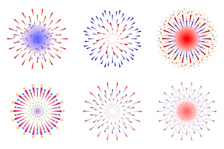 Fireworks vector illustration 版權商用圖片 - 40818575