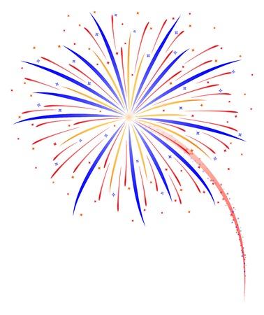 Fireworks vector illustration Illustration