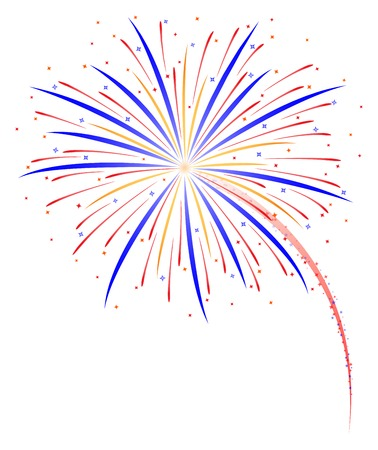 Fireworks vector illustration Çizim