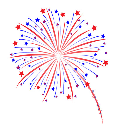 Fireworks vector illustration Çizim