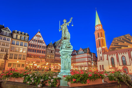 Romer the old town of Frankfurt  Germany