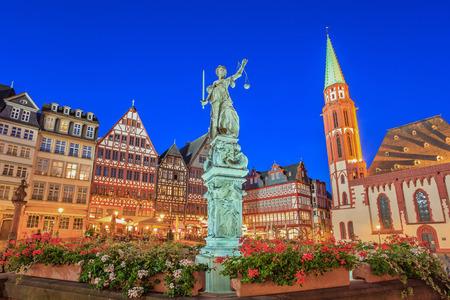 frankfurt: Romer the old town of Frankfurt  Germany