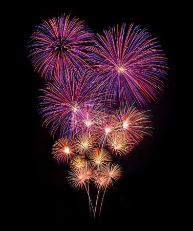 Feuerwerks-Feier des neuen Jahres Standard-Bild - 41064355
