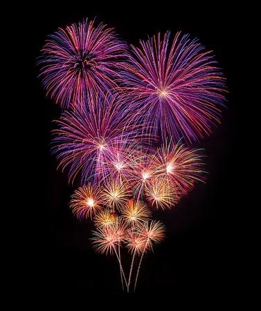 Fuegos artificiales celebración del Año Nuevo Foto de archivo - 41064355