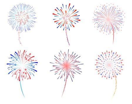 Fireworks celebration vector illustration Illustration