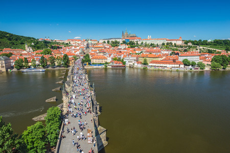 praha: Prague city skyline - Czech Republic