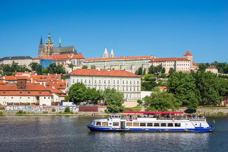 czech republic: Prague city skyline - Czech Republic