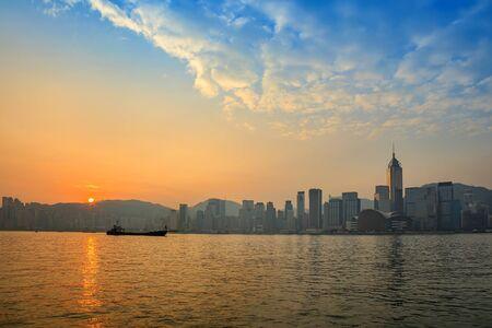 hongkong: Hong Kong city skyline Stock Photo