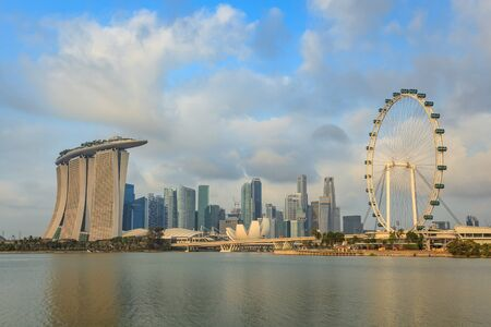 singapore building: Singapore city skyline