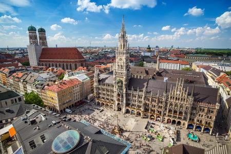 munich: Marienplatz town hall - Munich - Germany
