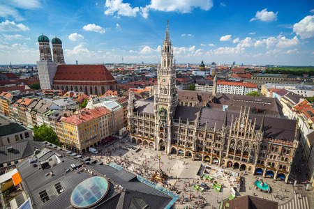 Marienplatz town hall - Munich - Germany Stok Fotoğraf - 43611692