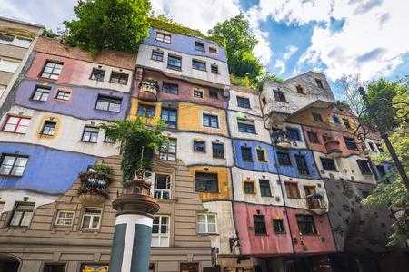 Hundertwasserhaus - Wien - Österreich Standard-Bild - 44338907
