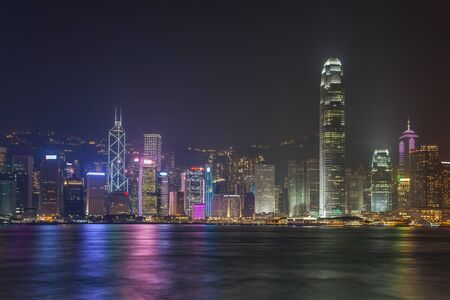 hong kong city: Hong Kong city skyline Stock Photo