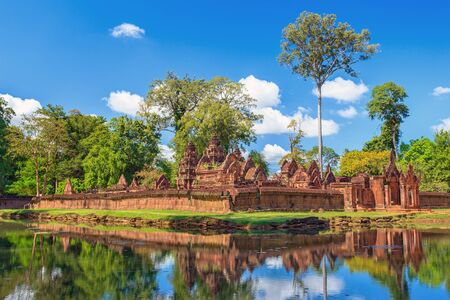 buddhist temple: Banteay Srei or Lady Temple at Siem Reap Cambodia