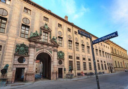residenz: Famous Residenz Street of Munich - Bavaria - Germany Editorial