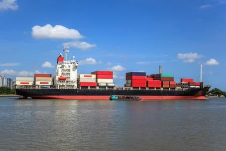 cargo transport: Cargo ship at the port