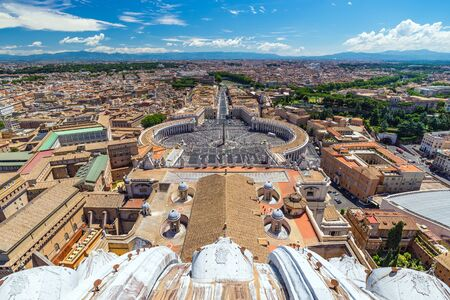 vatican: Aerial view at Vatican - Rome - Italy